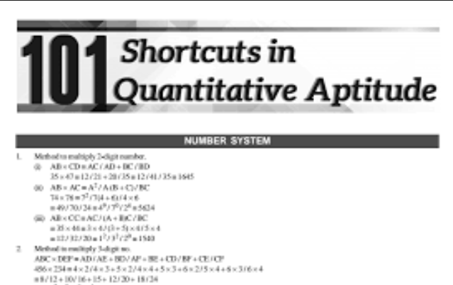 101 Maths Shortcut PDF