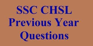 SSC CHSL Previous Year Questions