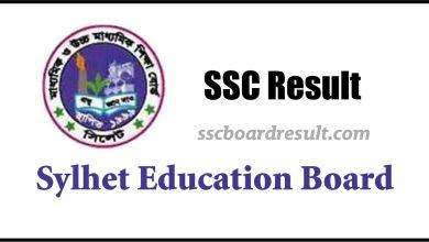 SSC Result Sylhet Board