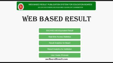 Web Based SSC Result