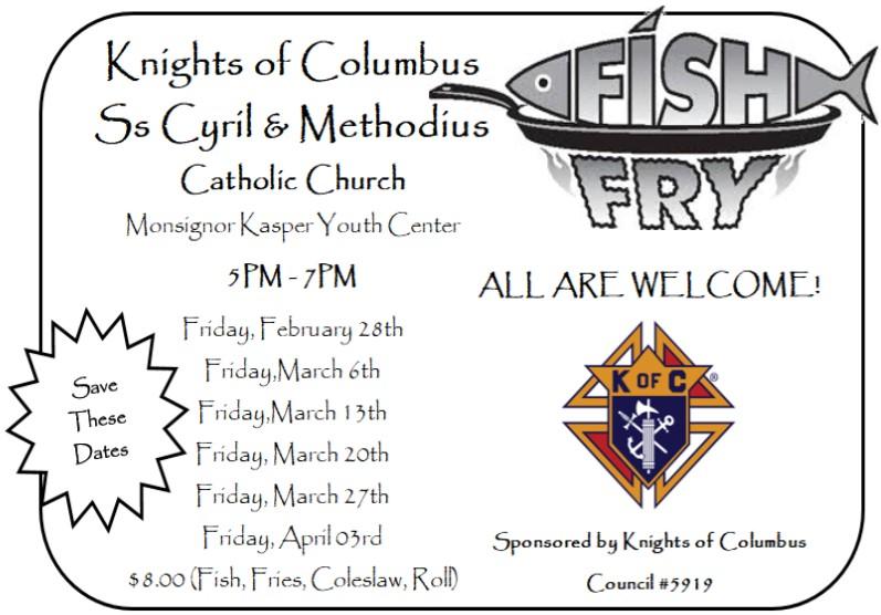 Knights of Columbus Fish Fry