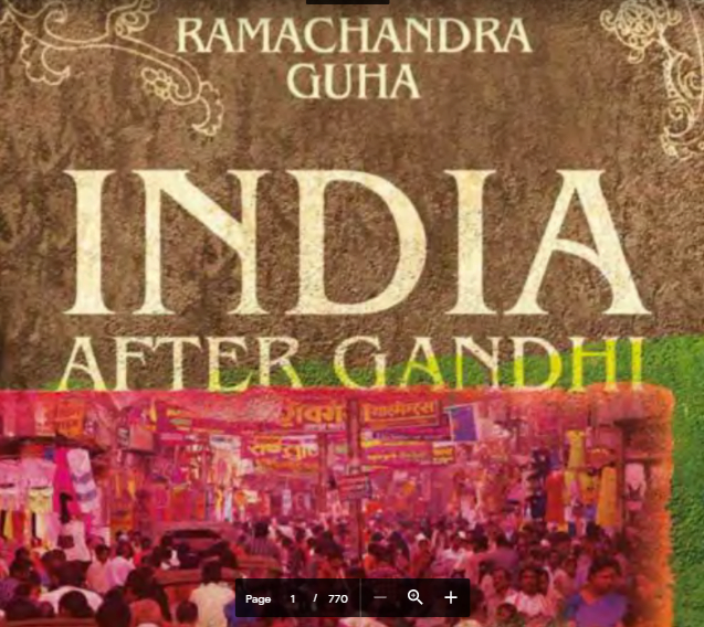 India after Gandhi by Ramachandra Guha Book PDF free Download