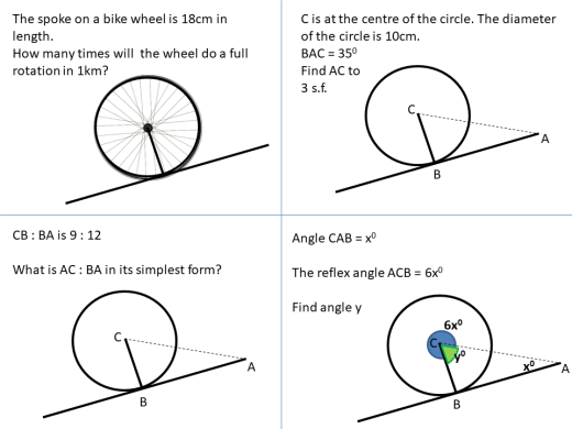 Geometry angles circle theorems ssdd problems tangent to a circle part 2 ccuart Image collections