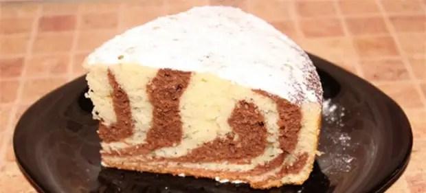 Пирог «Зебра» на кефире - лучшие рецепты вкусного, красивого и пышного десерта