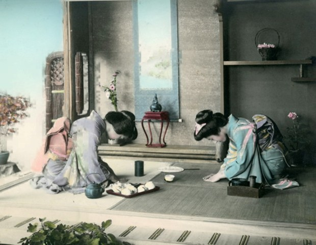Fig. 11. Tea Ceremony. Shashin Print by unknown photographer, c.1890