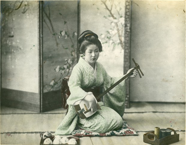 Shashin print by an unknown commercial photographer, about 1890