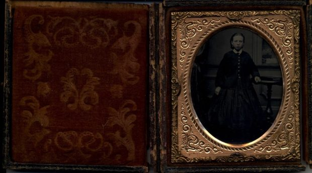 Daguerreotype of Miss Agnes Toward's mother, Agnes Reid, as a girl