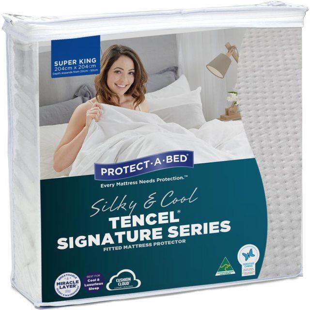 Protect A Bed Tencel Siganature Jaquard Ed Waterproof Mattress Protector