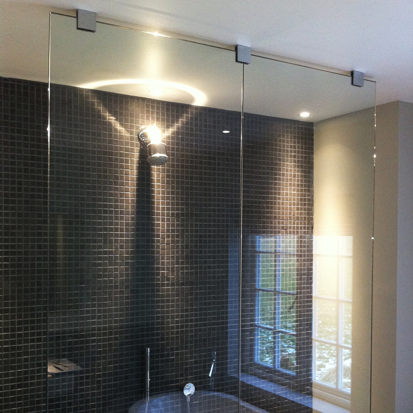 9  Access for Large Glass Panels  Frameless Showers  SSI