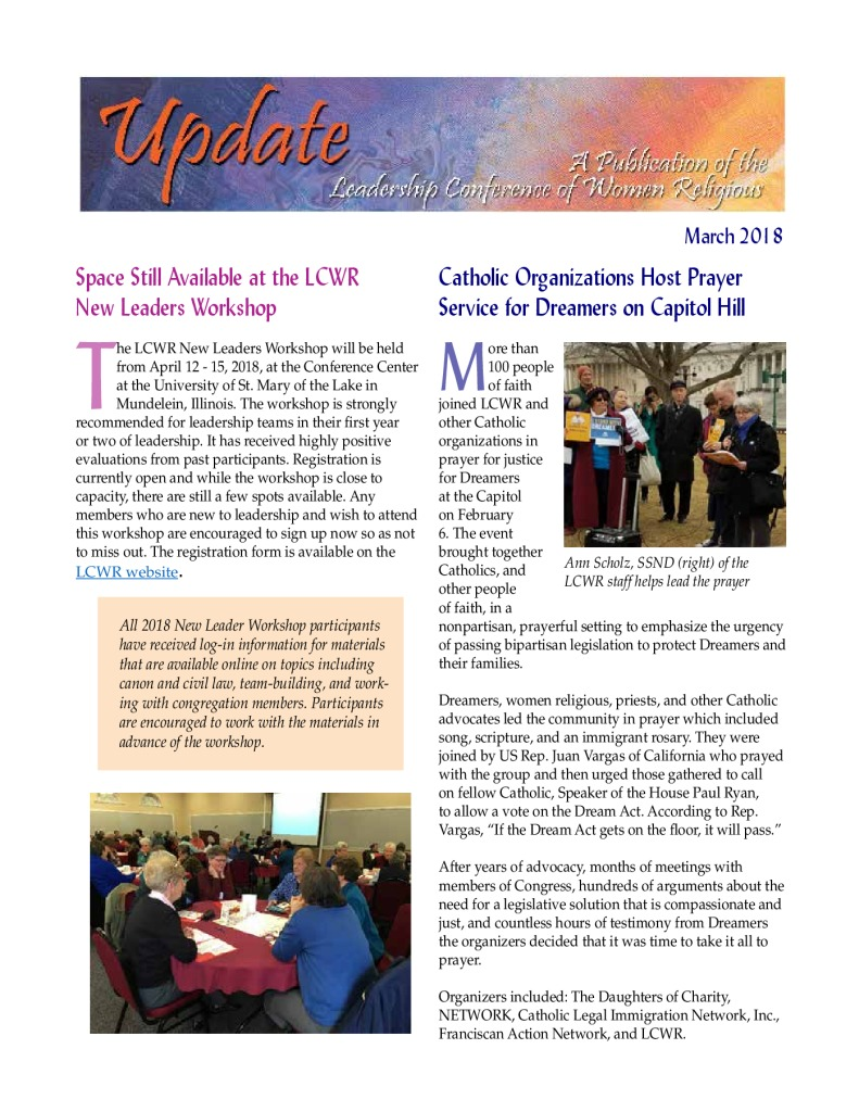 thumbnail of March 2018 LCWR Newsletter