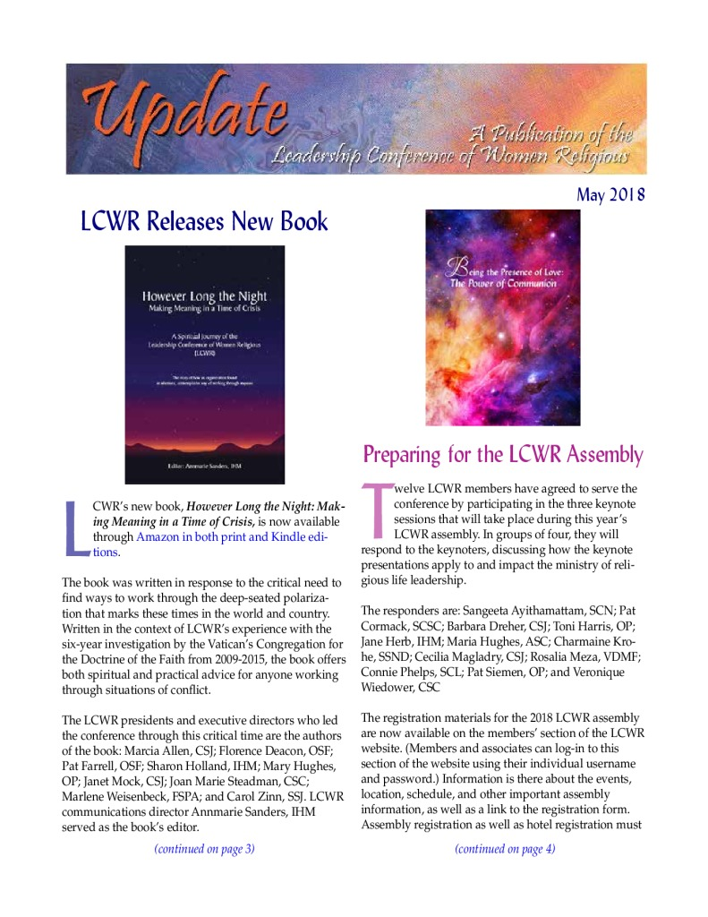 thumbnail of May 2018 LCWR Newsletter