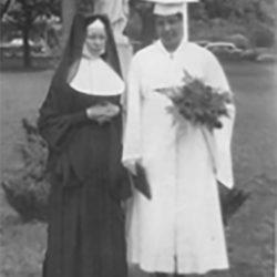 SSJ Associate Elaine Clyburn and Sr. Agnes Clare of the Buffalo SSJs