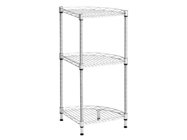 LANGRIA 3-Tier Metal Wire Corner Shelving Unit Free