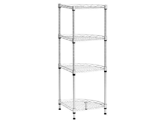 LANGRIA 4-Tier Wire Corner Shelving Unit, Storage Shelves