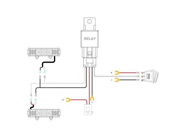 20 Inch Nilight Light Bar Wiring Harness : 40 Wiring
