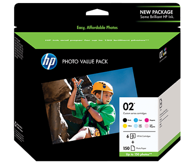 Hp 02 Series Photo Value Pack  X 6 In