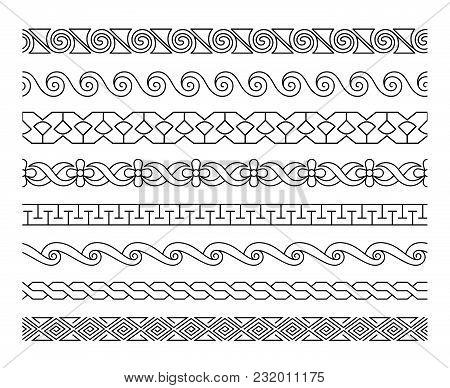 linear border patterns vector