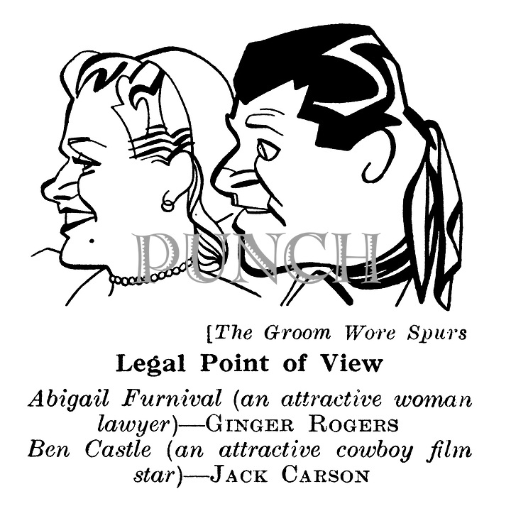Punch Cartoons on Film-Cinema-Hollywood Icons by R S