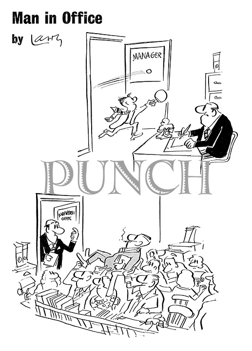 Larry (Terence Parkes) Cartoons from Punch magazine
