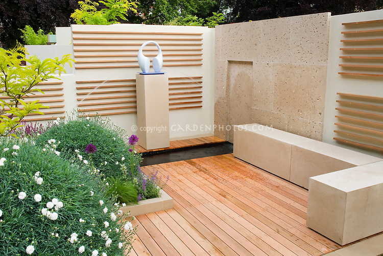 Outdoor Room Deck Bench Walls Plant Amp Flower Stock