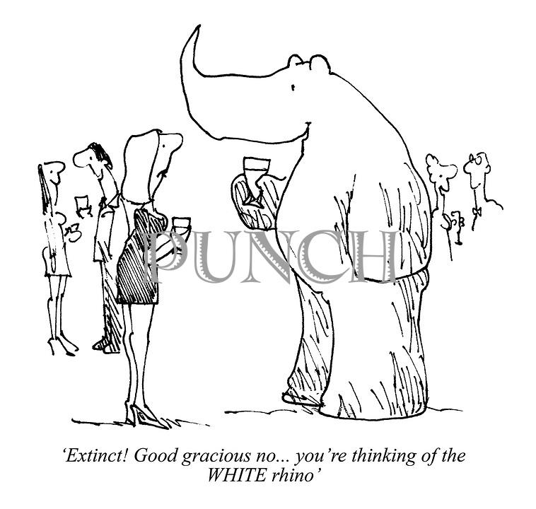 'Extinct! Good gracious no... you're thinking of the WHITE