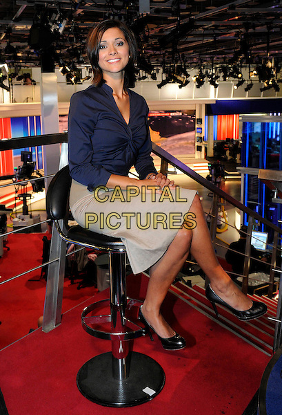 Sky Weathergirl Lucy Verasamy pictured at Sky News Centre