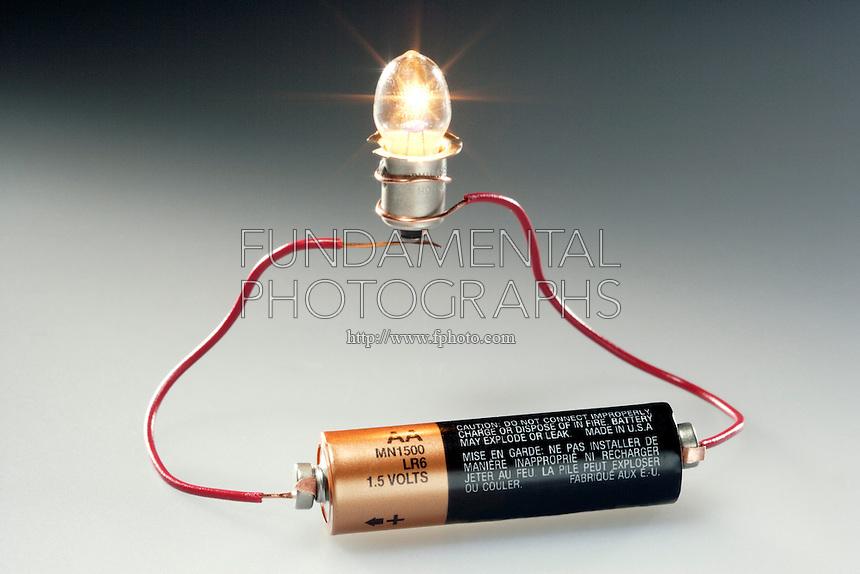 Batteries Light Bulb Simple Circuit Experiment Diagram Image