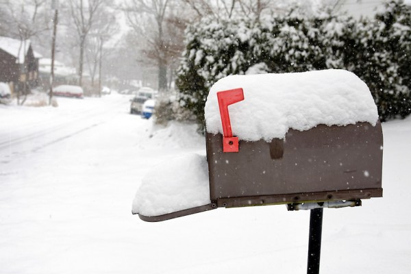 mailbox in snow mira