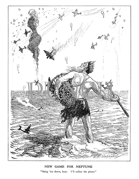 WW2 Battle of Britain Cartoons from Punch Magazine by E H