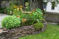 Raised bed flower garden in backyard | Plant & Flower ...