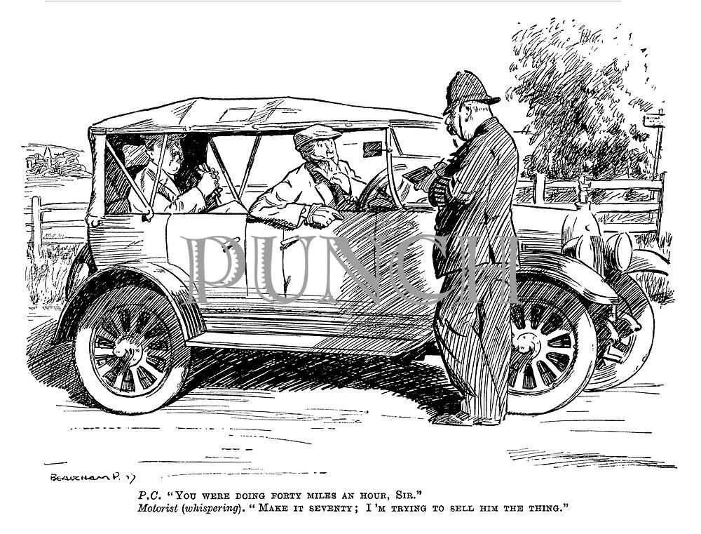 Interwar Cars, Motoring cartoons from Punch magazine
