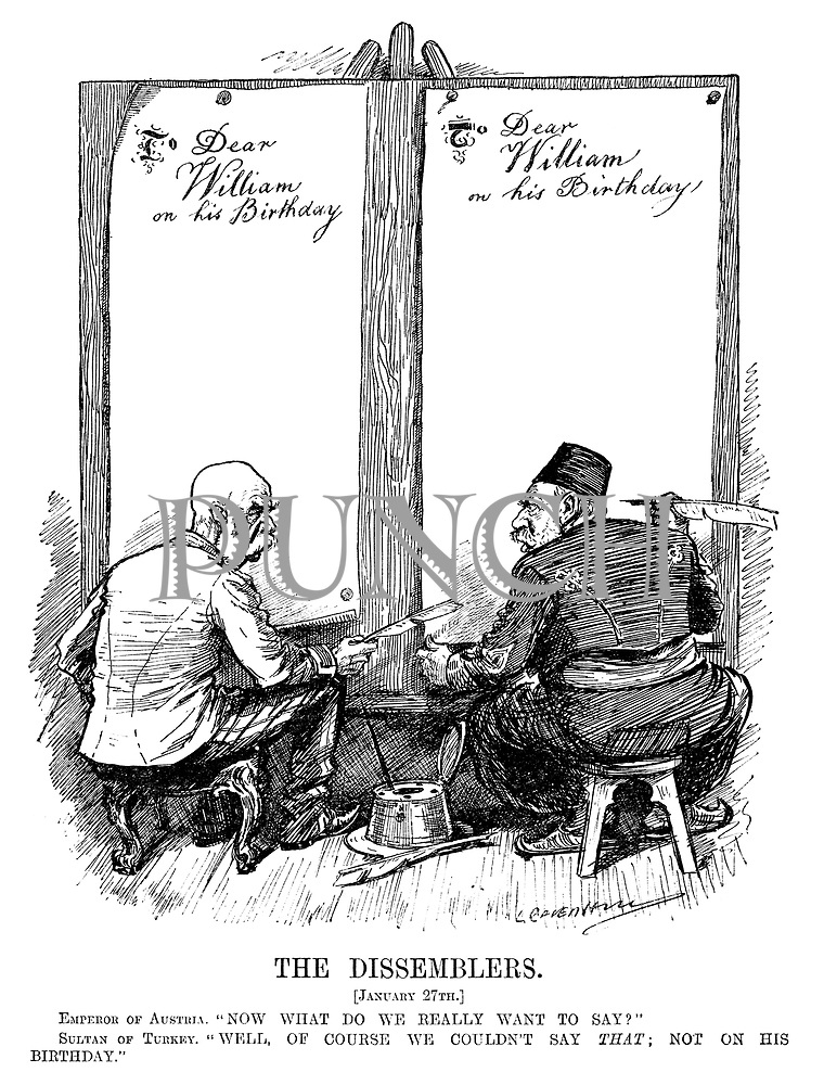 WW1 cartoons from Punch magazine by Leonard Raven Hill