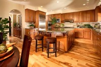 Model Home Large Kitchen With Pine Hard Wood Flooring ...