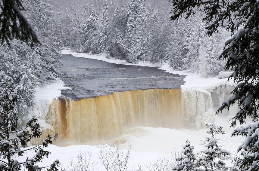 Tahquamenon Falls Michigan Winter Wallpaper Tahquamenon Falls Winter Michigan Nature Photos By