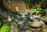 Japanese style stone garden and raked sand | Plant ...