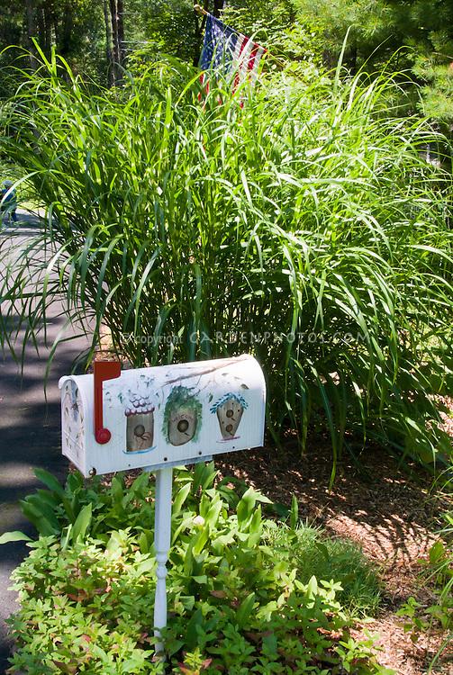 ornamental grass mailbox