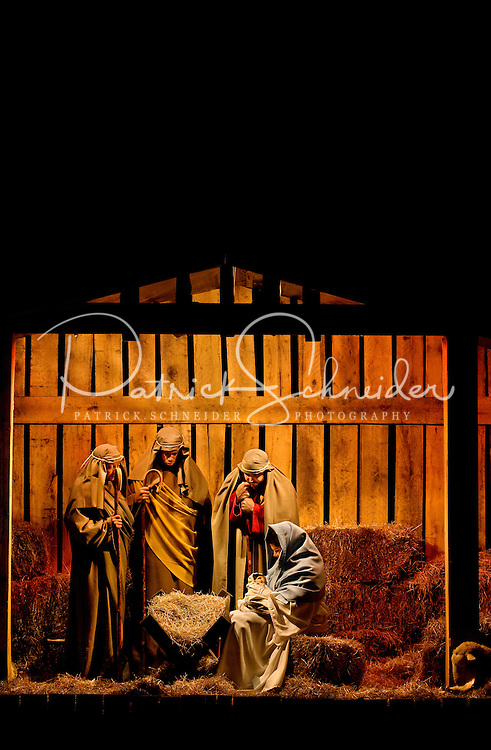 live nativity scene during christmas at the billy graham library