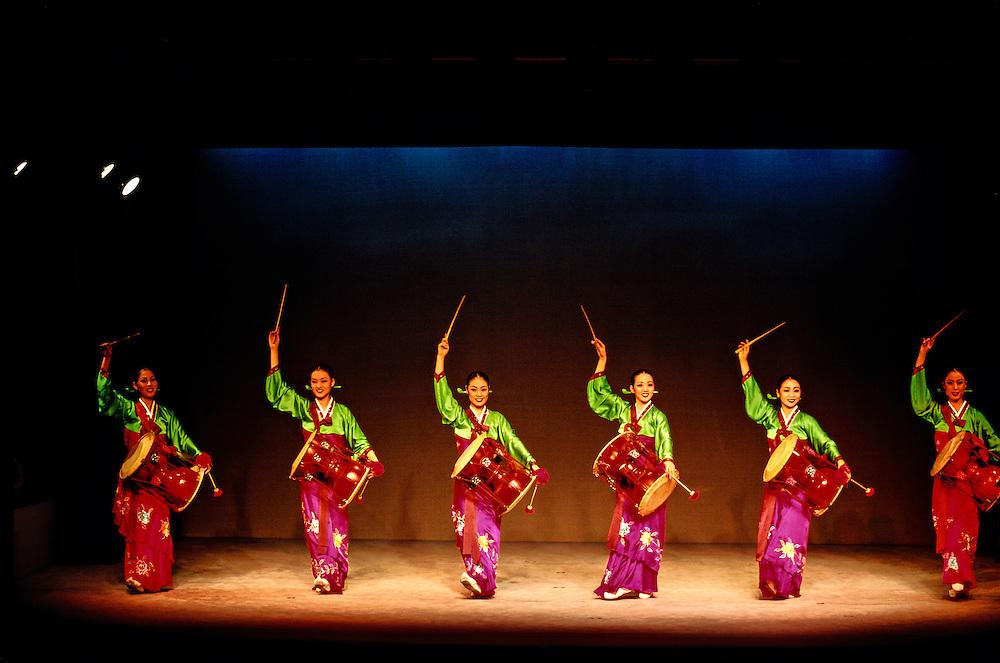 Changgu (hourglass drum). Korean traditional music and dance performance. Korea House. Seoul. South Korea | Blaine Harrington III
