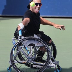 Wheelchair Quad Blue Chair Bay Coconut Rum Dylan Alcott Australia In Action Against David Wagner Usa While During His Victory