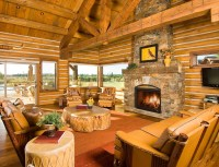 Cabin Furniture Living Room Firep