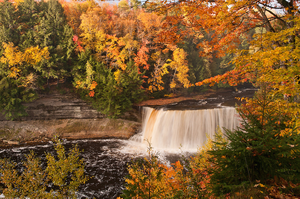 Tahquamenon Falls Michigan Winter Wallpaper Autumn At Tahquamenon Neil Weaver Photography