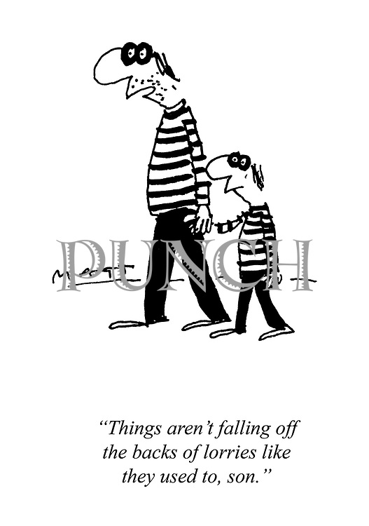 Cartoons about Crime, Police, Law and Order from Punch