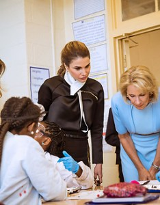 Excel academy public charter schoo washington dc usa queen rania and first lady melania trump also  amp visit rh newspixotoshelter