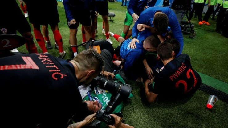 Croatia players went topless after winning England for their first world cup finals