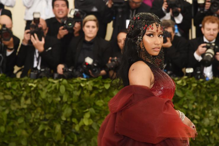 Nicki Minaj attends the Heavenly Bodies: Fashion & The Catholic Imagination Costume Institute Gala at The Metropolitan Museum of Art on May 7, 2018 in New York City.