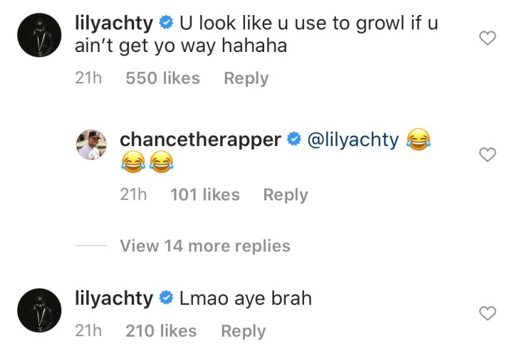 lil yachty chance the rapper roast baby pic photo bite