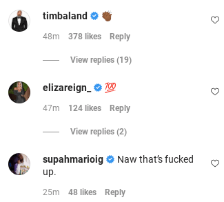 Screenshot of comment's underneath Tory Lanez DSP rant