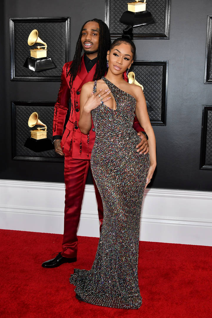 Quavo of Migos and Saweetie attend the 62nd Annual GRAMMY Awards at Staples Center on January 26, 2020 in Los Angeles, California.