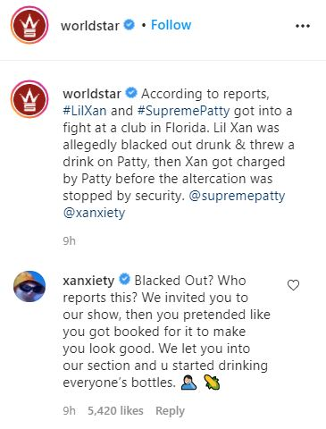 Lil Xan, Supreme Patty, Fight