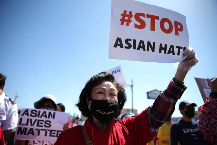 #StopAsianHate Man Charged Hate Crime Throwing Rocks Asian Mom Son